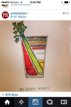 We're at Gift Fair today, checking out some great work by artisans. This Bloody Mary print from Drywell Art is one of our favorites! Cocktail Drinks, Fun Drinks, Alcoholic Drinks, Cocktails, Bloody Mary Bar, Bloody Mary Recipes, Internet Trends, Breakfast Of Champions, Drink Specials