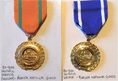 FL 20 year Faithful Service Medals (Obsolete & Current)