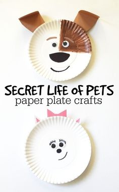 Looking for a way to continue the fun of the Secret Life of Pets? How about creating these super fun and simple paper plate crafts of Max and Gidget.