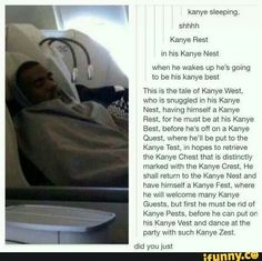 Lmao I was listening to Kanye west as I saw this post