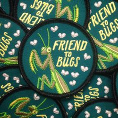 Friend To Bugs Patch by FrogandToadPress on Etsy https://www.etsy.com/listing/254804724/friend-to-bugs-patch
