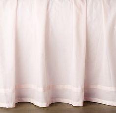 Gathered Voile Crib Skirt