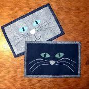 Cat Face Mug Rug - Cat Mini Quilt - via @Craftsy                         $2.50 pattern
