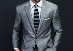 Grey suit = Dapper !!!