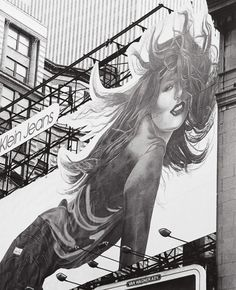 Calvin Klein Girl, NY  photo by Andreas Feininger, 1981