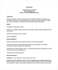 Resume For Personal Trainer 11 Trainer Resume Templates  Free Printable Word & Pdf  Resume .