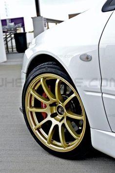 Rota G-Force wheels on 2006 Mitsubishi EVO 8, 9