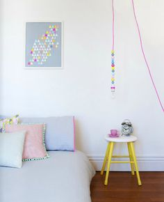 Add that pop of neon to the pastel room of yours to give it more life #HomeDecor