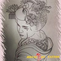 hình xăm geisha 47