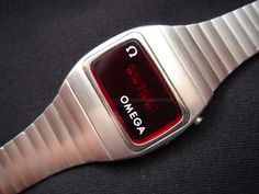 Omega Led Constellation - 1975 Modern Watches, Vintage Watches, Cool Watches, Shoes Wallpaper, Nerd Chic, Apple Watch Iphone, Led Watch, Vintage Omega, Basic Style