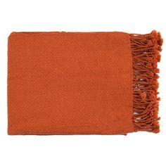 Surya - Turner by Surya Throw Blanket, Burnt Orange, - Throws Home Renovation, Orange Blanket, Nebraska Furniture Mart, Rust Color, Orange Color, Decorative Throws, Stores, Fall Decor