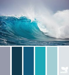 3rd from left turquoise. But I think it's a little blueish, in my opinion, to be really a sea colour; at least because this wave pic seem to me photoshopped to make the original blue colours look much more brighter. :-/  Don't you think?