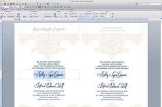 Free Wedding Invitation Template - Type details