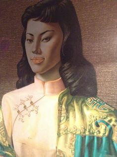Miss Wong/Green Woman Reproduction/Chinese girl/Vladimir Tretchikoff.