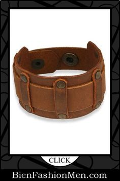 Mens Leather Cuffs | Mens Bracelets | Mens Jewelry | Mens Accessories | Bracelets on Men | Mens Jewelery | Shop Now ♦ Steampunk Brown Leather Studded Gothic Bracelet $29.00