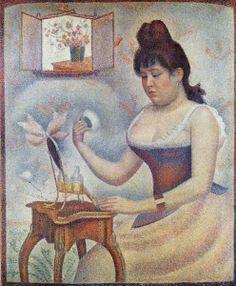 Georges Seurat (1859-1891) - Frau Mit Puderquaste