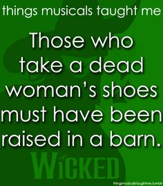 Things Musicals Taught Me - Wicked