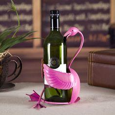 Flamingo Wine Rack Practical Sculp Home Decor