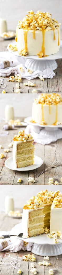 Caramel Popcorn Cake With Mascarpone and Cream Cheese Frosting55
