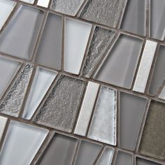 SomerTile 11.75x11.875-inch Orion Grey Glass & Stainless Steel Mosaic Wall Tile (Case of 10) - Overstock Shopping - Big Discounts on Backsplash Tiles