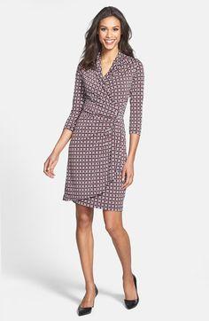 Karen Kane 'Geo Dot' Cascade Wrap Dress available at #Nordstrom