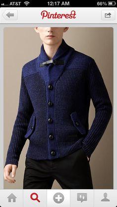 Gorgeous man's cardigan