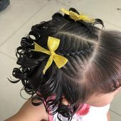 Most Popular Baby Girl Hairstyles Curly Short Ideas Easy Little Girl Hairstyles, Baby Girl Hairstyles, Kids Braided Hairstyles, Princess Hairstyles, Toddler Hairstyles, Toddler Curly Hair, Curly Hair Styles, Natural Hair Styles, Girl Hair Dos