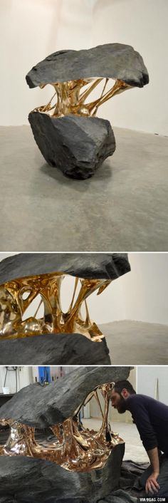 """Molten"" sculpture (Romain Langlois) I just enjoy the shapes of the negative and positive space."