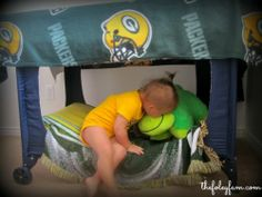 The Homestead Survival | How To Repurpose A Pack n Play Into A Toddler Bed or & DIY Play Tent from a pack-n-play and a crib sheet super easy ...