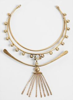 Xavier Gonzalez (1898-1993), Bronze Choker Necklace with Linear Pendant