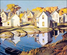 Alfred Joseph Casson (Canadian artist), 'The Group of Seven' Tom Thomson, Emily Carr, Canadian Painters, Canadian Artists, Landscape Art, Landscape Paintings, Group Of Seven Artists, Group Of Seven Paintings, Wow Art