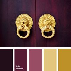We love the richness of this color palette. These warm tones would look beautiful in a luxurious bedroom or a bright patio. Where would you use this color palette?