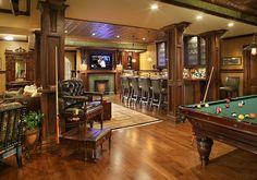 Pub Inspired Basement Bar and Pool Table - Imgur