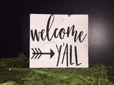Welcome Y'all Home Rustic Decor Sign Distressed    eBay