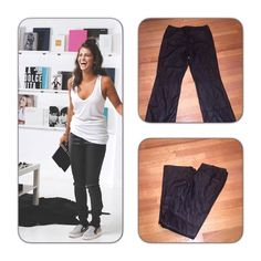 Ny black faux leather pants Boot cut faux pleather pants. NY jeans Pants