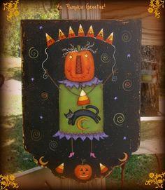E PATTERN  Ms Pumpkin Greeter  Fun & Funky for Halloween by skb007,