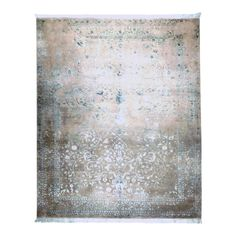 Affordable Rugs, Home Rugs, Contemporary Rugs, Gray Background, Handmade Rugs, Art Nouveau, Knots, Texture, Blue