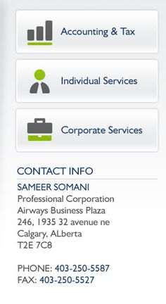 A small accounting firm in the Calgary providing bookkeeping, taxation, financial and other business services that are help you take control of your financial future. Visit here: http://sameersomani.com/online.html