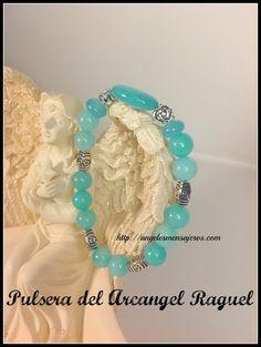 Pulsera del Arcangel Raguel-pulsera en agua marina-pulseras de los arcangeles-pulsera en cuarzo azul-pulsera en cuarzo-joyas en agua marina-joyeria en cuarzos-pulsera del angel guardian