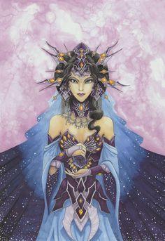 Nyx, the Goddess of the Night by Nibeline.deviantart.com on @deviantART