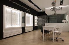 Business money, internal design, eyeglass stores, optical shop, optometry o Shop Interior Design, Retail Design, Store Design, Interior Ideas, Salon Design, Optic Shop, Eyeglass Stores, Elderly Home, Shop Interiors