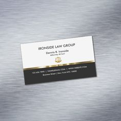 Classy Attorney Law Office Business Card Magnet Custom Legal Branding Office Products and Gifts #legal #lawyer #solicitor #law