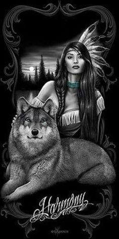 DAVID GONZALES ART DGA HARMONY NATIVE GIRL WOLF NATURE PEACE 30X60 BEACH TOWEL