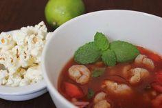 Ecuadorian Style Shrimp Ceviche with Popcorn