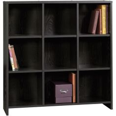 Sauder Beginnings Collection Organizer Bookcase, Black