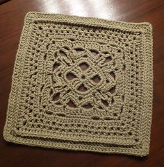 "Ravelry: Merganser Duck 12"" Crochet square. So pretty in a solid color. Lacy, but not too much."