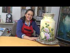 Pintar caja madera con pintura efecto tiza y multicarga .Painted wooden box one stroke - YouTube