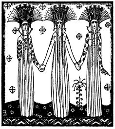 Art by Kay Nielsen (1914) from the book, EAST OF THE SUN AND WEST OF THE MOON.
