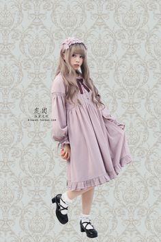 【炭团。独家定制】 Gretel。灯笼袖宽松小高腰长袖连衣裙lolita - SpreeNow.com, Taobao English agent that accepts PayPal