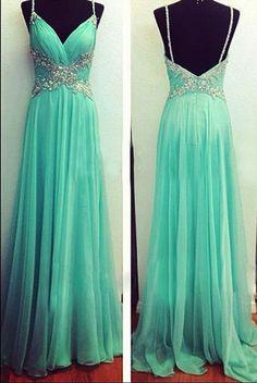 blue Prom Dresses,chiffon prom dress,cheap prom Dress,long prom dress,evening dress,BD0407